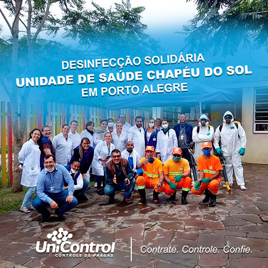 Desinfecção solidária contra o Coronavírus