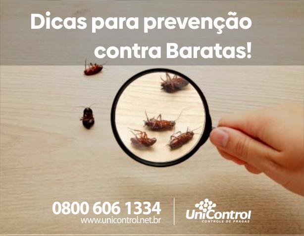 Veja nossa cartilha sobre prevenção à baratas